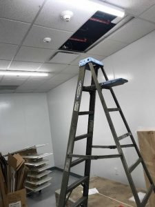 Portable Ladder Access During Hvac Pm