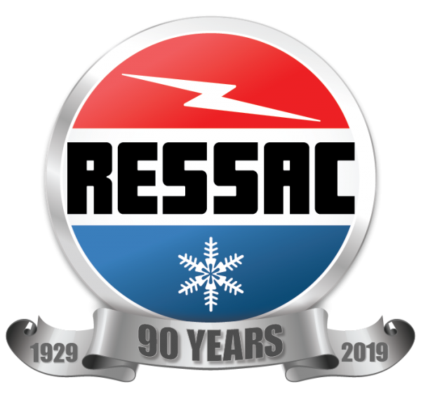 RESSAC's 90th Anniversary Logo.